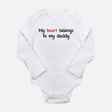 My heart belongs te my daddy Long Sleeve Infant Bo