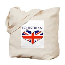 LOVE EQUESTRIAN UNION JACK Tote Bag
