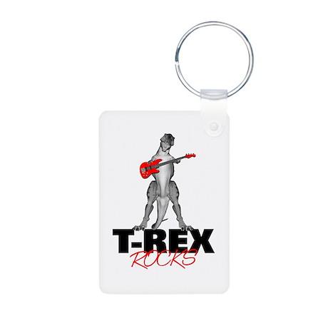 Tyrannosaurus Rex Rocks Aluminum Photo Keychain