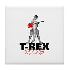 Tyrannosaurus Rex Rocks Tile Coaster