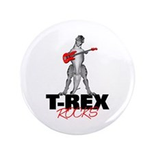 "Tyrannosaurus Rex Rocks 3.5"" Button (100 pack)"