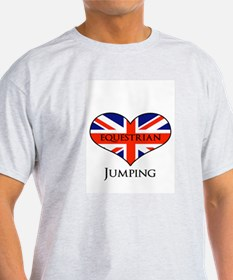 LOVE Equestrian Jumping Union jack T-Shirt