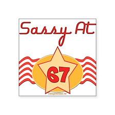 "Sassyat67.png Square Sticker 3"" x 3"""