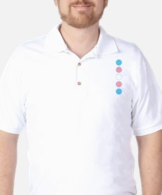 Transgender Pride Golf Shirt