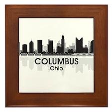 Columbus Skyline Framed Tile