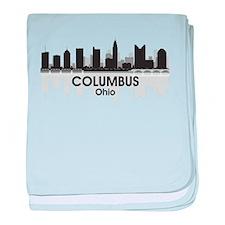 Columbus Skyline baby blanket