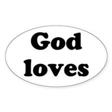 Love Is The Answer Sticker (oval)