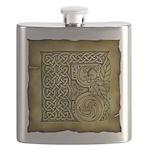 Celtic Letter F Flask