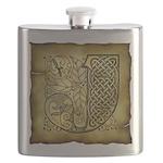 Celtic Letter J Flask