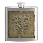 Celtic letter V Flask