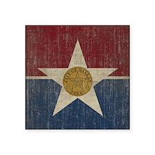 """Vintage Dallas Flag Square Sticker 3"""" x 3"""""""