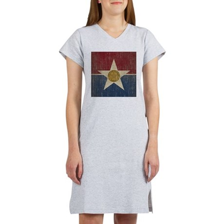 Vintage Dallas Flag Women's Nightshirt