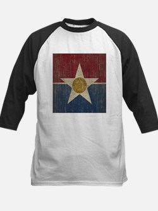 Vintage Dallas Flag Kids Baseball Jersey