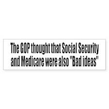 Bad Ideas Bumper Sticker