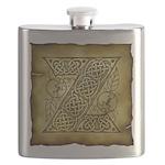 Celtic Letter Z Flask