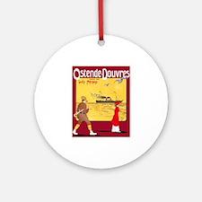 Belgium Travel Poster 4 Ornament (Round)