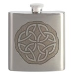 Celtic Knotwork Coin Flask