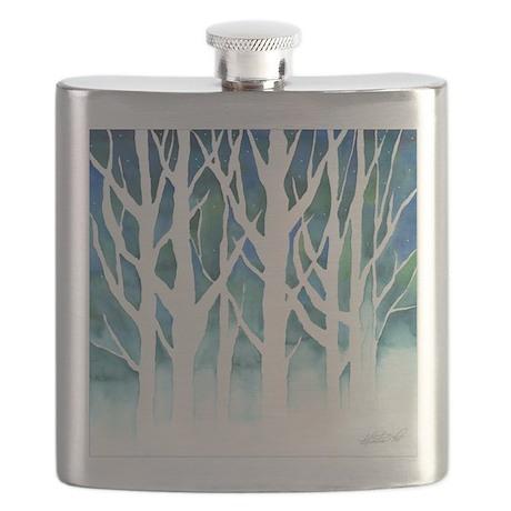 Winter Silhouette Watercolor Flask