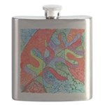 Multicolor Oak Leaf Art Flask