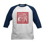 KITTY CATS IN RED Kids Baseball Jersey