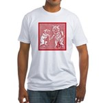 KITTY CATS IN RED Fitted T-Shirt