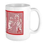 KITTY CATS IN RED Large Mug