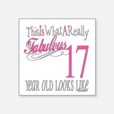 "Fabulous 17yearold.png Square Sticker 3"" x 3"""