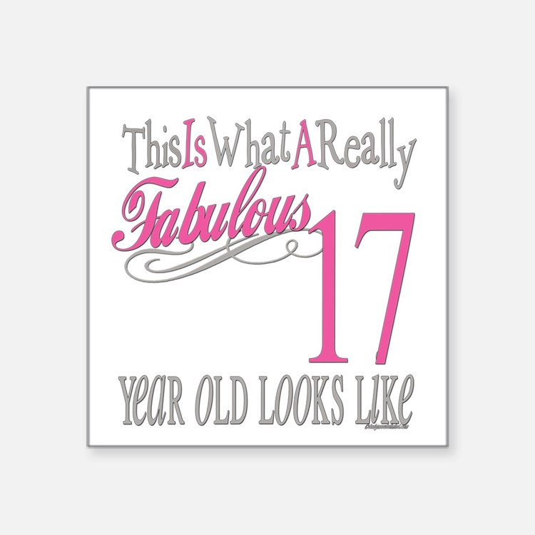 17 Birthday Designs 17 Birthday 17 Years Ol Stickers