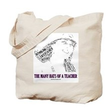 Female Teachers Hats Tote Bag