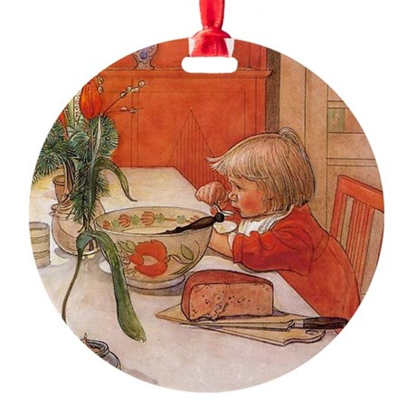 Country Breakfast Round Ornament