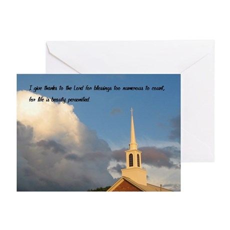 Church and Sky Greeting Cards (Pk of 10)