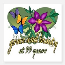 "GraceButterfly99.png Square Car Magnet 3"" x 3"""