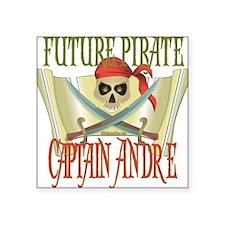 "PirateAndre.png Square Sticker 3"" x 3"""