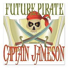 "PirateJameson.png Square Car Magnet 3"" x 3"""