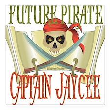 """PirateJAYCEE.png Square Car Magnet 3"""" x 3"""""""