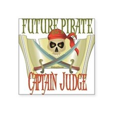 "PirateJUDGE.png Square Sticker 3"" x 3"""