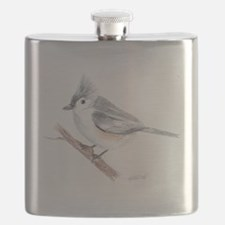Tufted Titmouse Drawing Flask