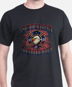 American Firefighter Lightning T-Shirt