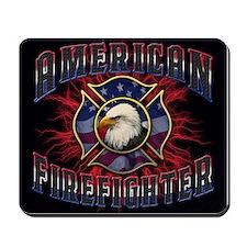 American Firefighter Lightning Mousepad