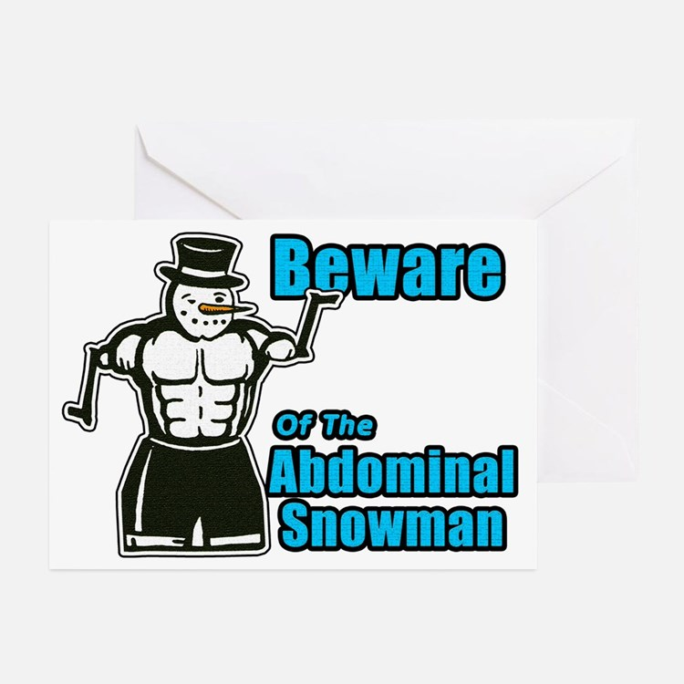 Abdominal Snowman Greeting Cards (Pk of 20)