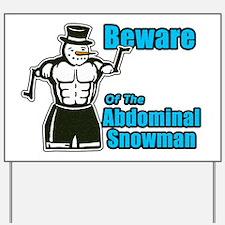 Abdominal Snowman Yard Sign