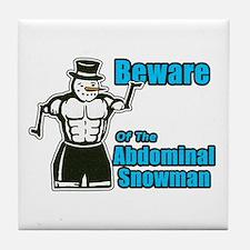 Abdominal Snowman Tile Coaster