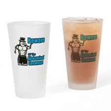 Abdominal Snowman Drinking Glass