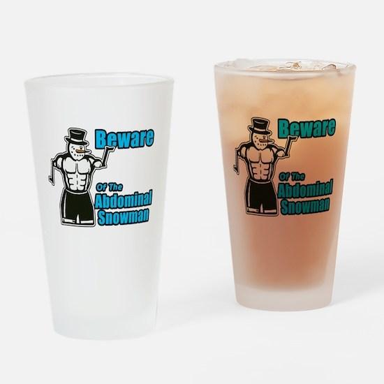 Abdominal Snowman Drinking Glass