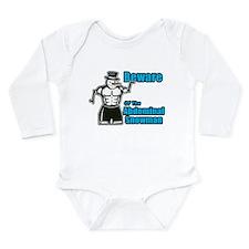 Abdominal Snowman Long Sleeve Infant Bodysuit