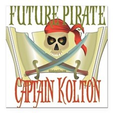 "PirateKolton.png Square Car Magnet 3"" x 3"""