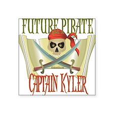 "PirateKyler.png Square Sticker 3"" x 3"""
