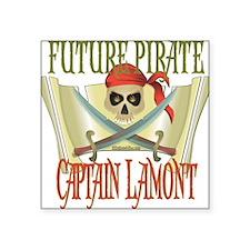 "PirateLamont.png Square Sticker 3"" x 3"""