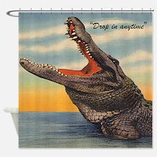 Vintage Alligator Postcard Shower Curtain