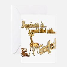 HappinessGiraffes copy.png Greeting Card